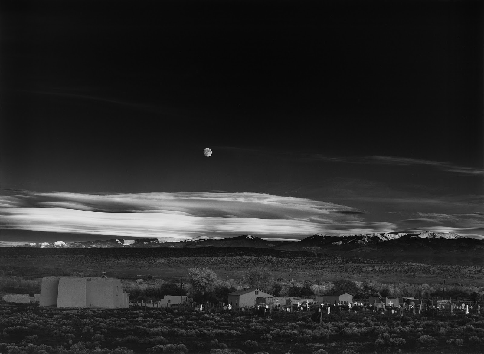 Ansel-Adams-Moonrise-Hernandez-New-Mexico-1941